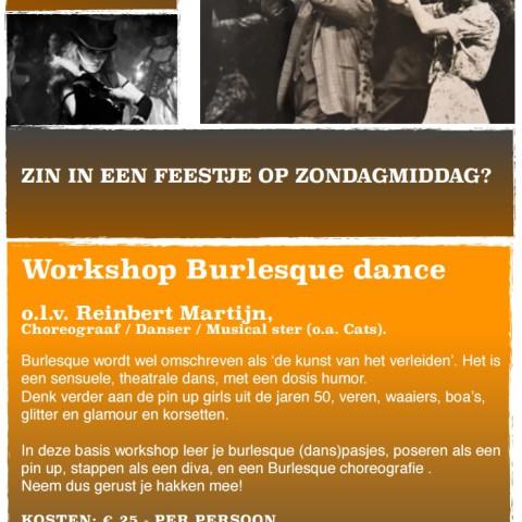 workshop burlesque dance ME Factory yoga emmen