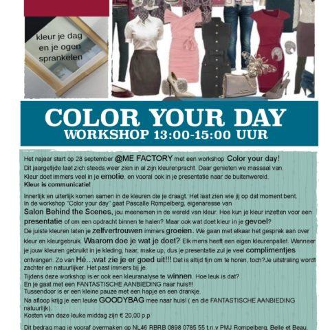 colour your day workshop me-factory yoga emmen
