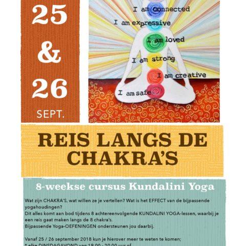 cursus reis langs de chakra's me factory yoga emmen lifestyle opleidingen
