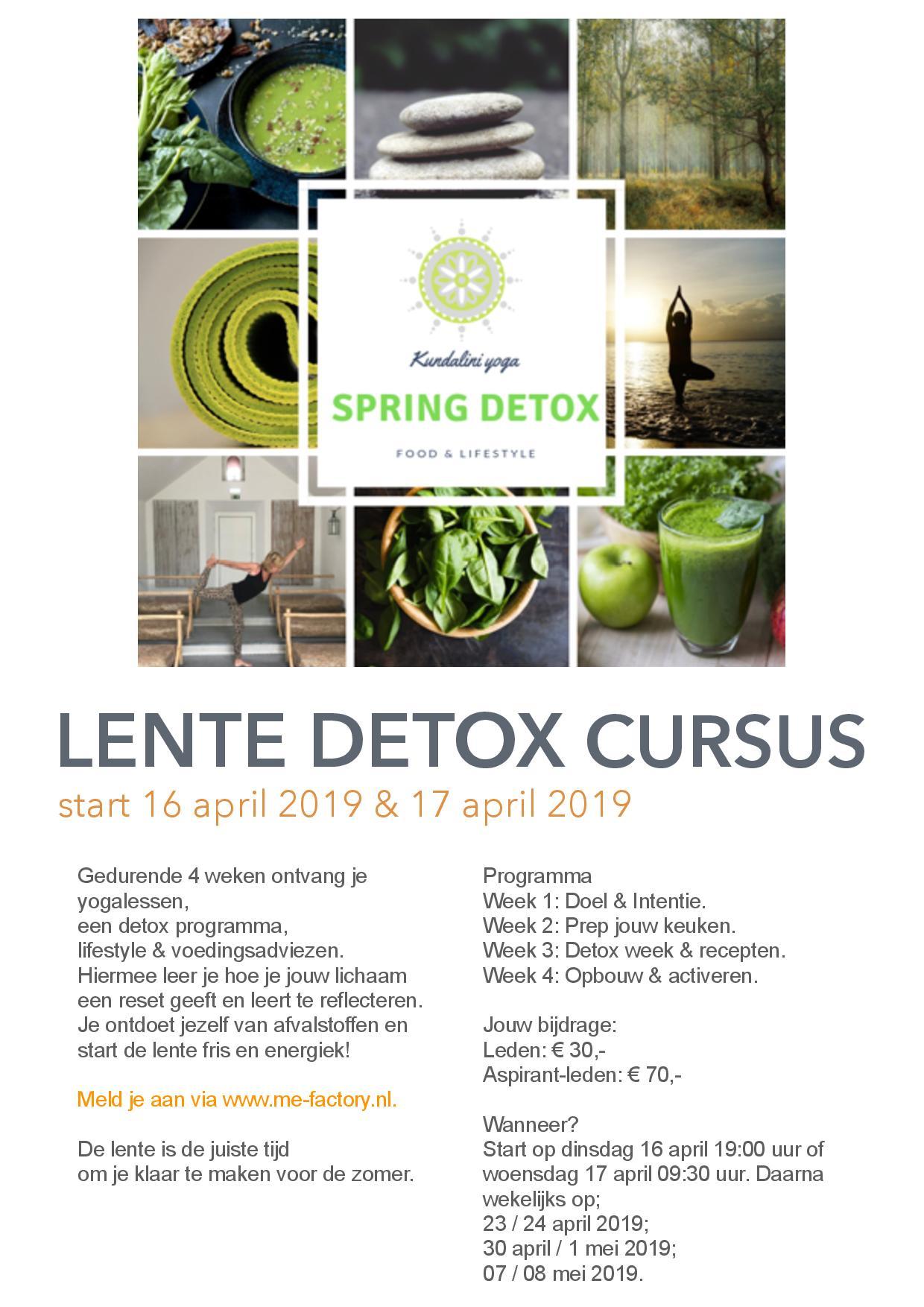 Lente Detox Cursus vanaf 16 april