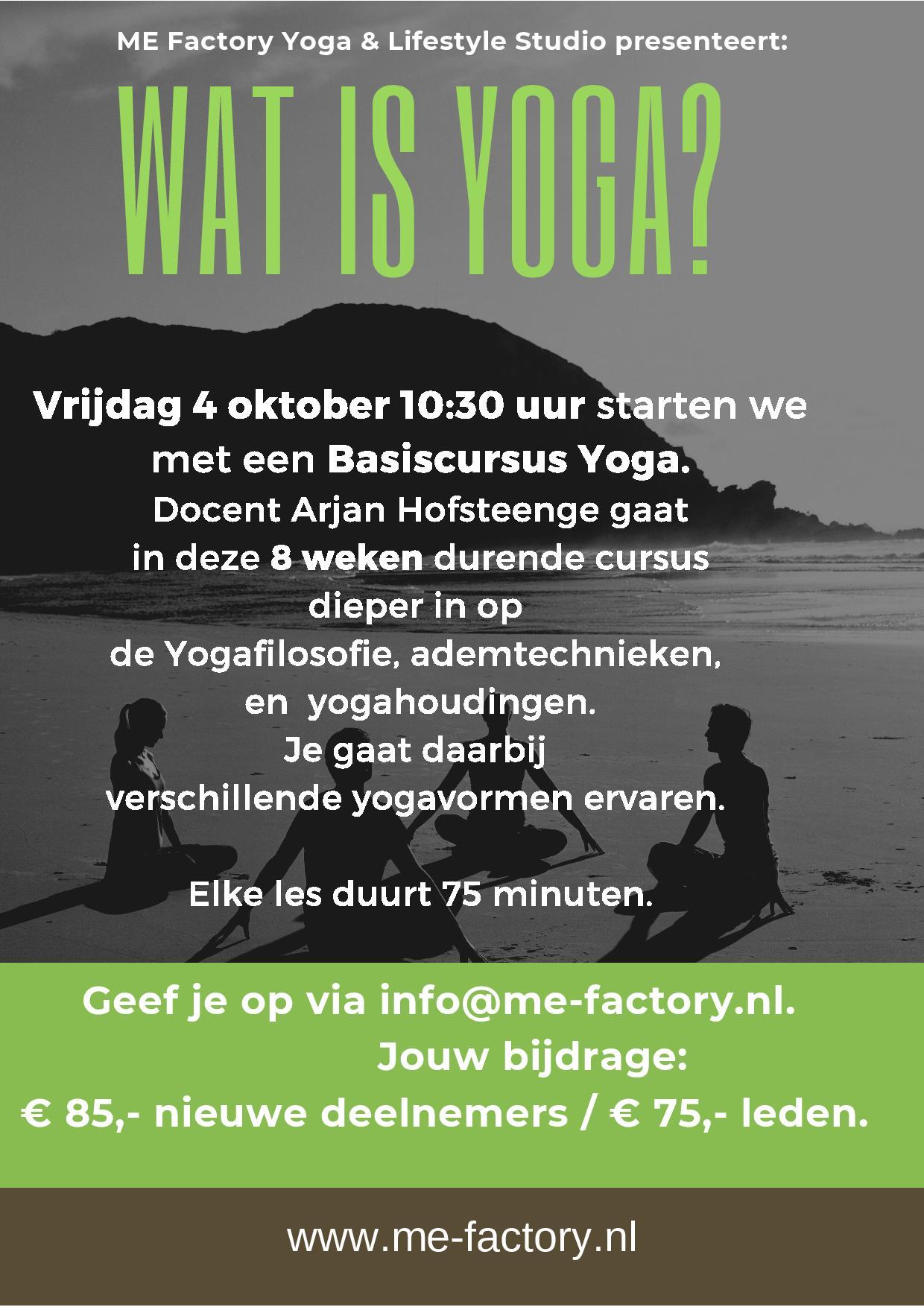 Wat is yoga? – Vanaf 4 oktober